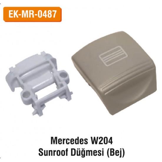 MERCEDES W204 Sunroof Düğmesi (Bej) | EK-MR-0487